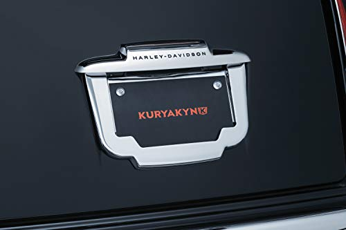 Kuryakyn 5148 Chrome License Plate Frame for Harley 2011-2018 FLHTCUTG Tri Ultra Classics and 2010-2011 FLHXXX Street Glide Trikes ()