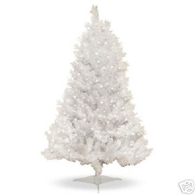 pre lit clear white spruce christmas tree