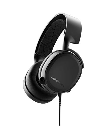(SteelSeries Arctis 3 Console (2019 Edition) Stereo Wired Gaming Headset for PlayStation 4, Xbox One, Nintendo Switch, VR, Android and iOS - Black (Renewed))