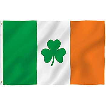 Anley fly breeze 3x5 foot ireland shamrock flag vivid color and uv fade