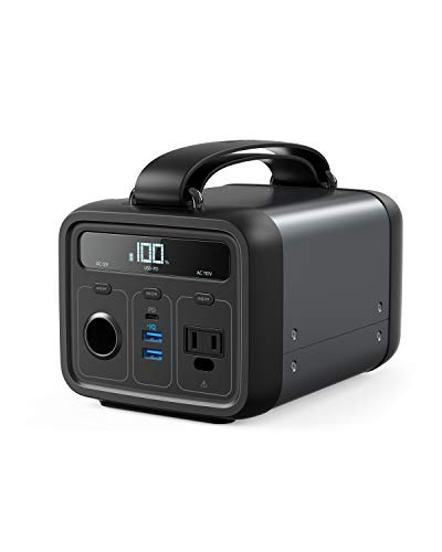 Anker Powerhouse 200, 200Wh/57600mAh Portable Rechargeable Generator Clean & Silent 110V AC Outlet/USB-C Power Delivery/USB/12V Car Outlets, for Fast Charging, Camping, Emergencies, CPAP, and More from Anker