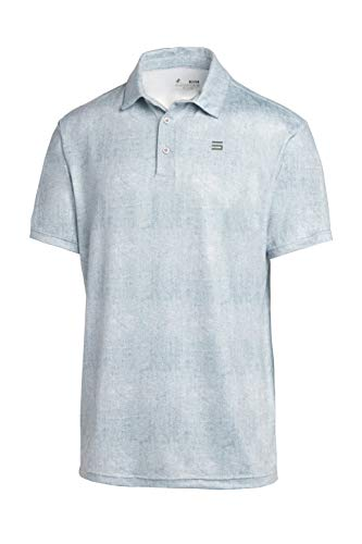 Three Sixty Six Golf Shirts for Men - Dry Fit Short-Sleeve Polo, Athletic Casual Collared T-Shirt Metallic White