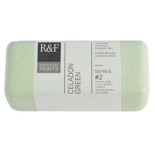 R&F Encaustic 104ml Paint, Celadon (Celadon Green)