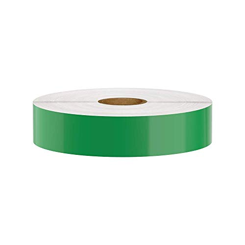 Premium Vinyl Label Tape for DuraLabel, LabelTac, SafetyPro and Others, Green, 1