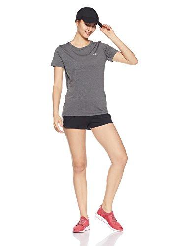 Corta Under Camiseta Heather Gris Mujer Manga Armour Hg carbon Ua De Ss qfI0fwr