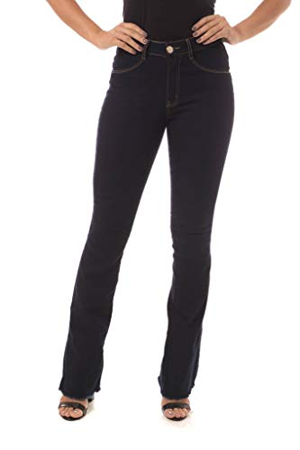 Calça Jeans Denuncia Mid Rise Flare Azul 46