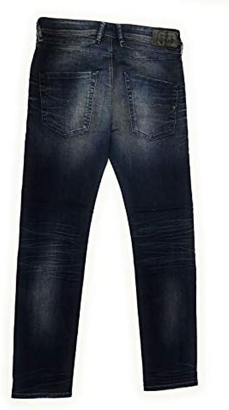 Diesel dżinsy męskie Belther-R Regular Slim-Tapered Mens spodnie dżinsowe R23T8 Stretch W31/L32: Odzież