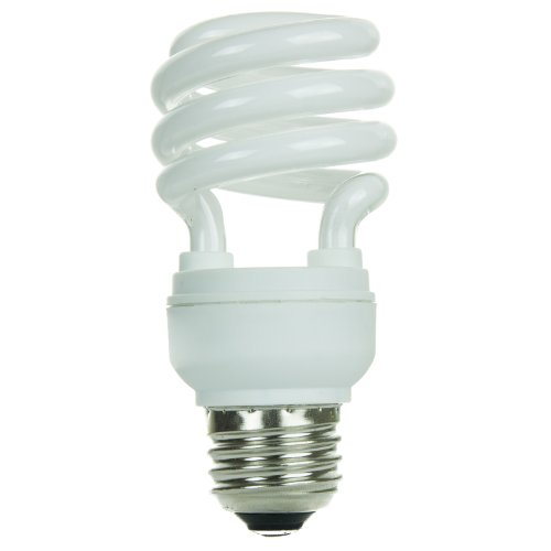 Sunlite SMS11/27K SMS11/27K 11-watt Super Mini Spiral Energy Saving Medium Base CFL Light Bulb, Warm White (11w Spiral)