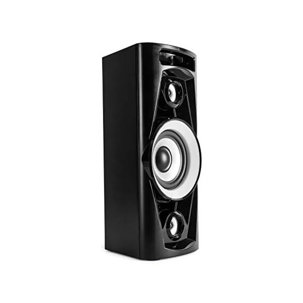 Reflexion PS07BT Système DJ Karaoké PA, avec Batterie et Effets Lumineux (Bluetooth, USB, AUX, Prise Microphone, raccordement de Guitare, 320W), Noir 6