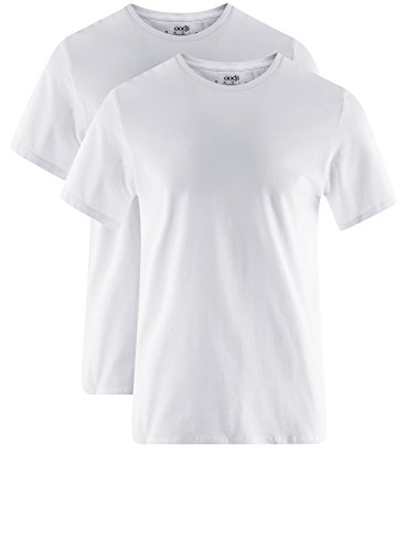 pacco Basic 2 Bianco Oodji shirt 1000n Ultra T Di Uomo wxXxq1TFf