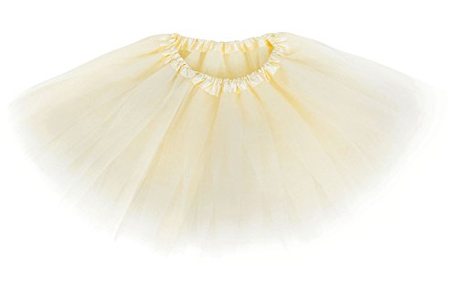 Cream Kids Costumes (Simplicity Girl's Classic Layers Tulle Dress Up Tutu Skirt,Cream,Child 2-8 Years)