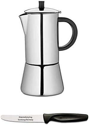 Cilio Figaro 342215 – Cafetera 2 tazas Pulido + Juego de Styling universal cuchilla en acero inoxidable: Amazon.es: Hogar