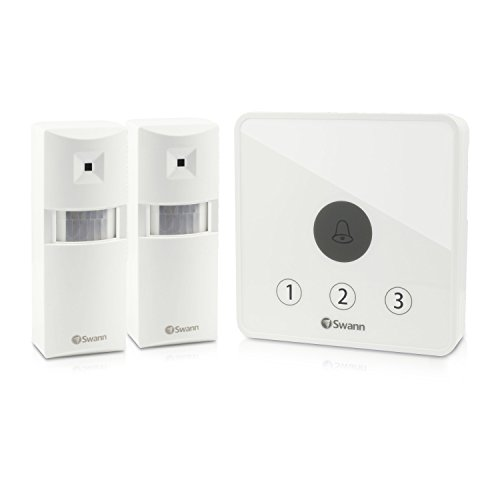 Swann Wireless Home Doorway Kit Alert Security Alarm, White (SWADS-Alarms-GL)