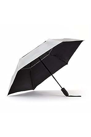 uv travel sun umbrella lightweight upf 50 auto open close compact silver vent wind. Black Bedroom Furniture Sets. Home Design Ideas