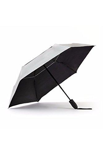 UV Travel Sun Umbrella Lightweight UPF 50 Auto Open Close Compact Silver Vent Wind Resistant Travel Friendly (Reflective Umbrella)
