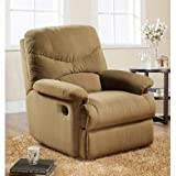 ACME 00634 Arcadia Glider Recliner, Light Brown Microfiber