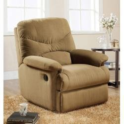 ACME 00634 Arcadia Glider Recliner, Light Brown Microfiber by ACME