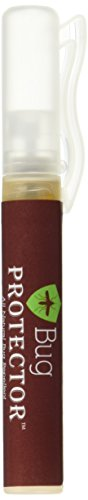 Bug Protector Deet Free Natural Insect Repellent 0.25 oz. Spray Pen, Brown/Lime