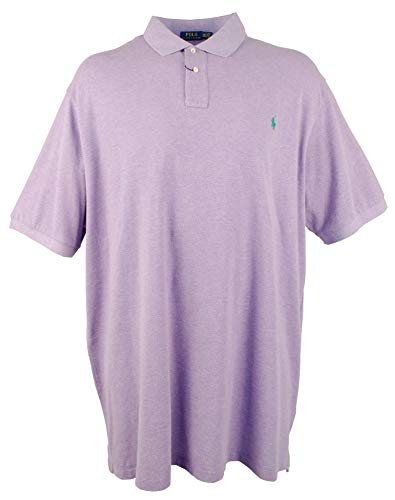 Polo Ralph Lauren Men's Big & Tall 2-Button Mesh Heather Polo ()