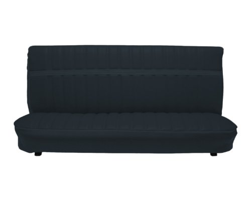 Bench Seat Upholstery (Acme U1002-2295 Front Black Vinyl Bench Seat Upholstery with Pleated)