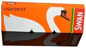Price comparison product image SWAN Swan Liquorice Rolling Papers Full Box 50 Booklets Bargain !!! Free Deliver! by Swan