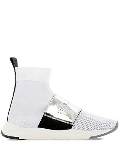 Top Donna Hi Tessuto Rn1c038tczhgac Balmain Bianco Sneakers RwSqF6nZ6