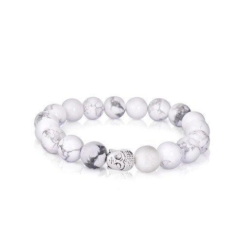 Sedmart Handmade Buddha White Turquoise Mens Bracelet Gemstone Jewelry Fathers Day Gift