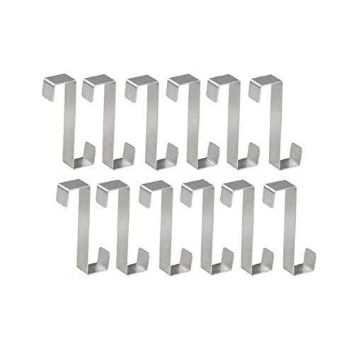 12 Pack Over The Door Hooks Z Shaped Hanging Hooks for Kitchen Bathroom Bedroom and Office
