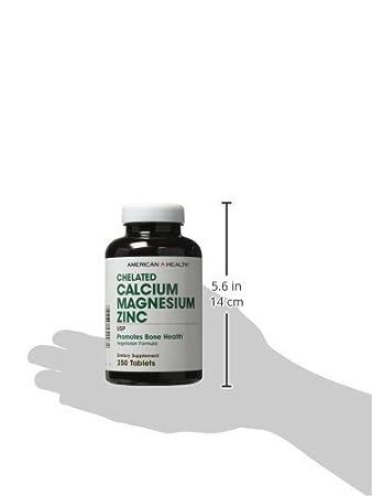 El calcio quelado de magnesio de zinc, 250 tabletas - Salud: Amazon.es: Salud y cuidado personal