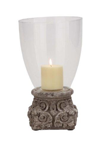 UPC 837303388272, Benzara Modish Styled Terracotta Glass Hurricane
