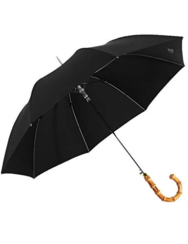 - HJQJPYS666 Umbrella, High-Grade Long Handle Men's Umbrella Bamboo Umbrella Men's Vintage Bamboo Umbrella Business Long Handle Umbrella, Suitable for Business Activities (Color : Black)
