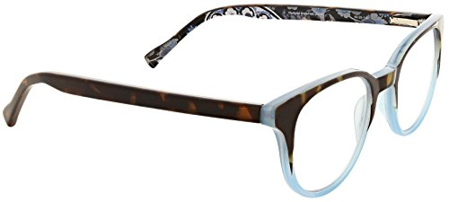 Vera Bradley Women's Tamara VBTAMARA0CMD0R250 Round Reading Glasses, Charcoal Medallion, 2.5 ()