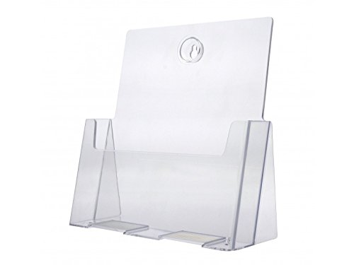 Marketing Holders 12 Pack Acrylic Brochure Holder for 8.5'' w Literature by Marketing Holders