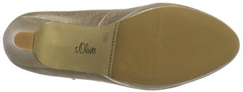 s.Oliver Women's 24401 Closed Toe Heels Gold X9QU01g