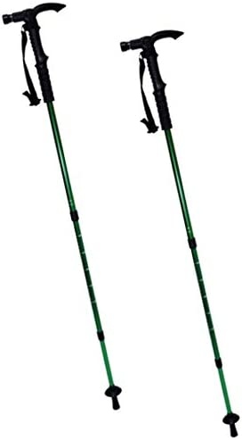 2 Pack ASR Outdoor Lighted LED Expandable Trekking Poles Assorted Color