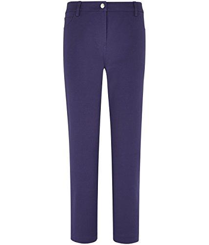 Ladies Designer Viyella Women's Clothing Straight Leg Smart Jeans Black Coldenim Cotton Blend Jeans Trousers Brown Navy Black Purple (Labelled Indigo)