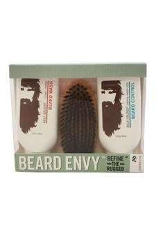 Billy Jealousy Beard Envy Kit 3oz Beard Wash, 3oz Beard Control, Brush For Men