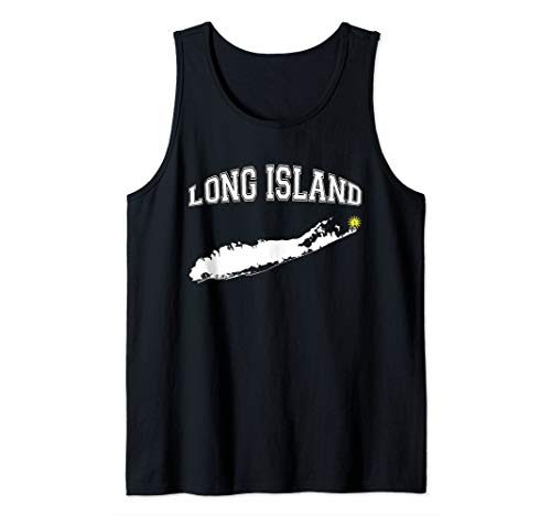 Long Island Graphic with Montauk Lighthouse Tank Top