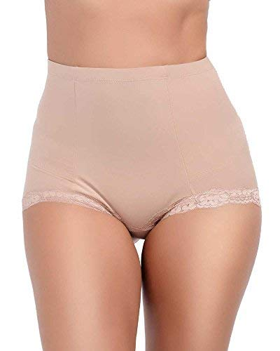 Q-T Intimates Women's in Demand High Waisted Tummy Control Brief - Supportive Shapewear - Mocha Brown, 2X