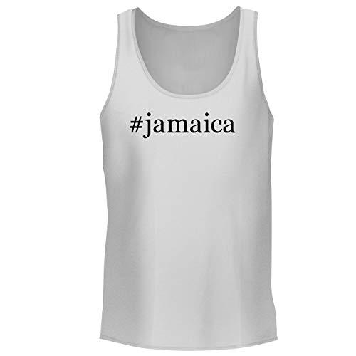 BH Cool Designs #Jamaica - Men's Graphic Tank Top, White, Large