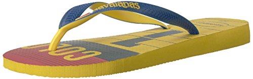 Flops Flip Team (Havaianas Unisex Teams III - Columbia Sandal,Citrus Yellow,43/44 BR (11-12 M US Men's))