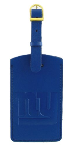 New York Giants - NFL Embossed Leather Bag Tag ()