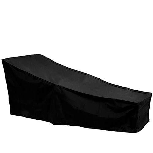 bennyuesdfd sdraio copertura impermeabile copertura per mobili da giardino lettino esterno in poliestere anti-UV antipolvere nero