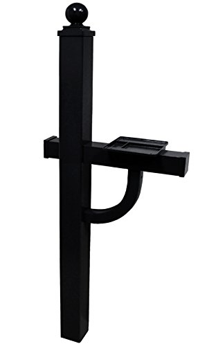(Gaines Manufacturing Keystone Deluxe Mailbox Post in Black)
