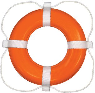 Taylor Made 364 Life Ring Buoy, ORANGE, 24'' by Taylor