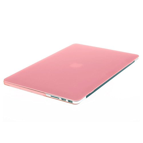 MOSISO Case Only Compatible with Older Version MacBook Pro Retina 13 inch (Models: A1502 & A1425) (Release 2015 - end 2012), Plastic Hard Shell Case & Keyboard Cover & Screen Protector, Pink