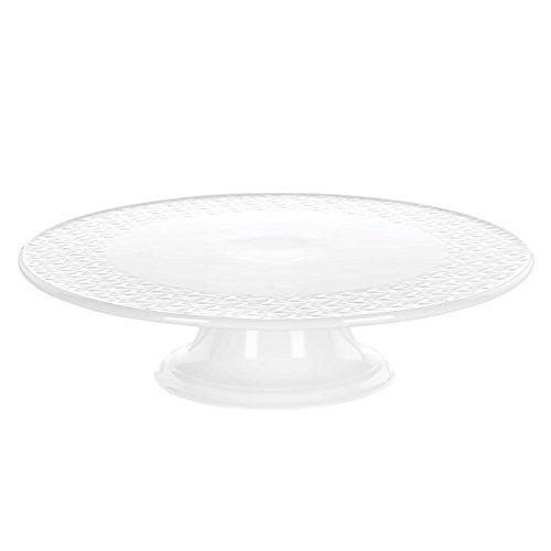 Lenox Ridge Street Cake Plate, White