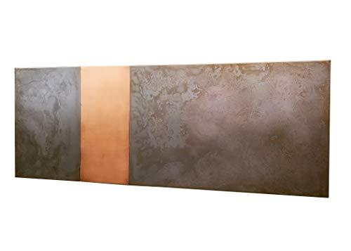 Copper Rustic Headboard - Light Pewter Copper Stripe Headboard