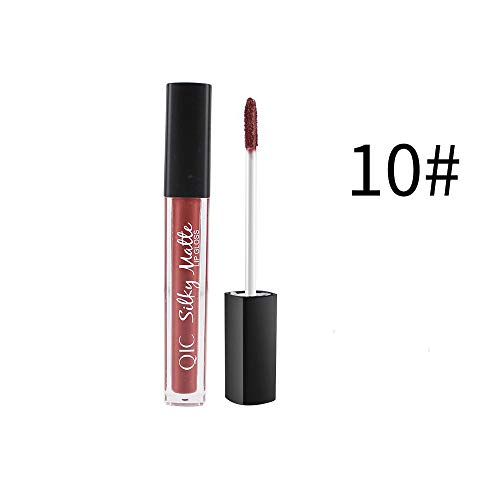 (Big Sale! Wintialy Makeup velve Lipstick Brown Nude Chocolate Color Liquid Lipstick Lip Gloss)