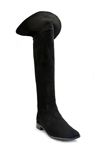 Eye Women's Knee Leather and Suede Riding Boots J 8 Black Suede